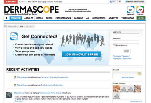 Online Resources for Skin Care Professionals