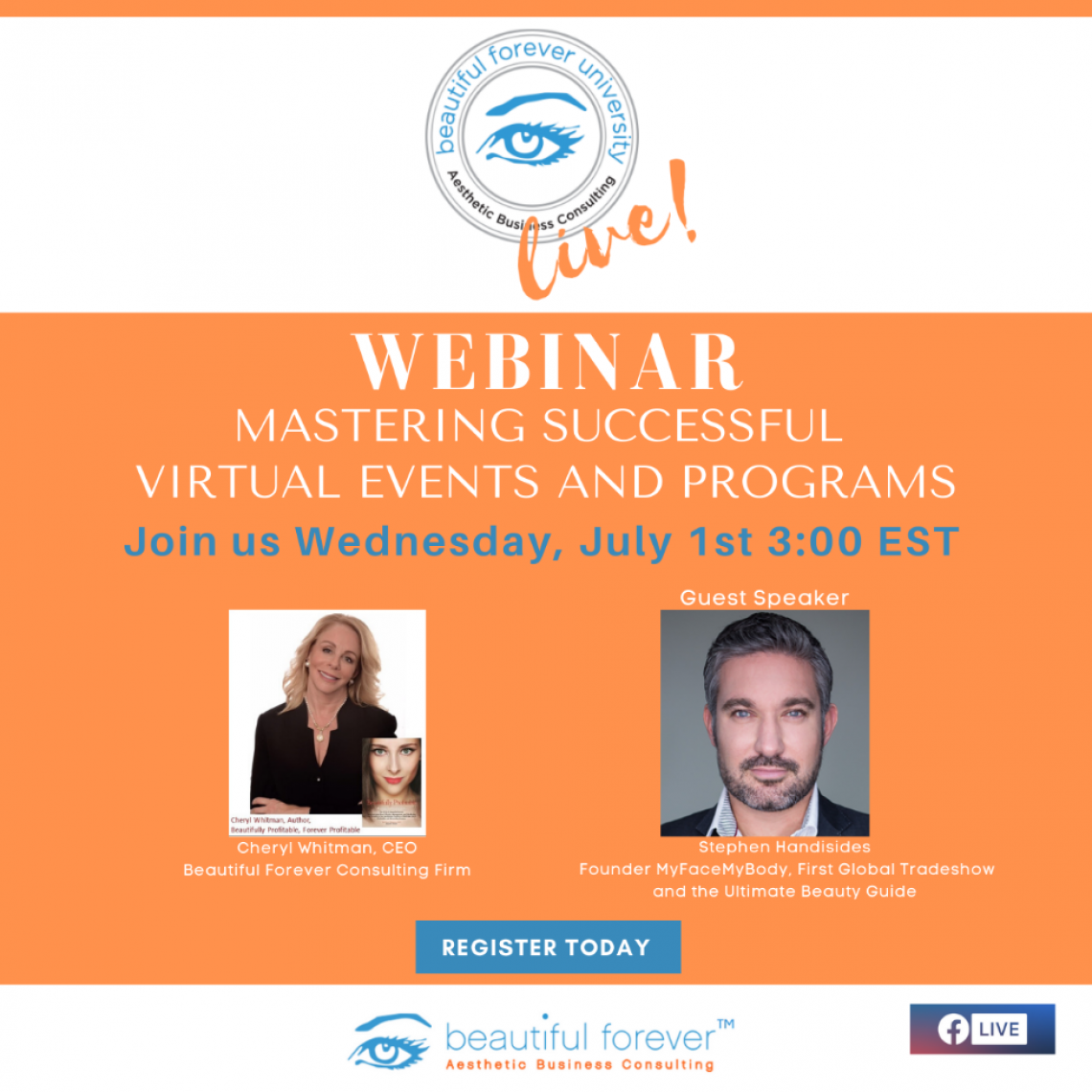 Mastering Successful Virtual Events & Programs w Cheryl Whitman and Stephen Handisides, Founder My Face My Body