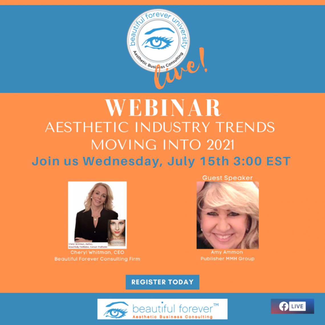 Aesthetic Industry Trends - Moving into 2021 with Cheryl Whitman and Amy Ammon, Publisher MMH Group
