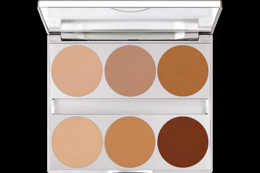 DUAL FINISH PALETTE 6 COLORS by Kryolan Professional Makeup