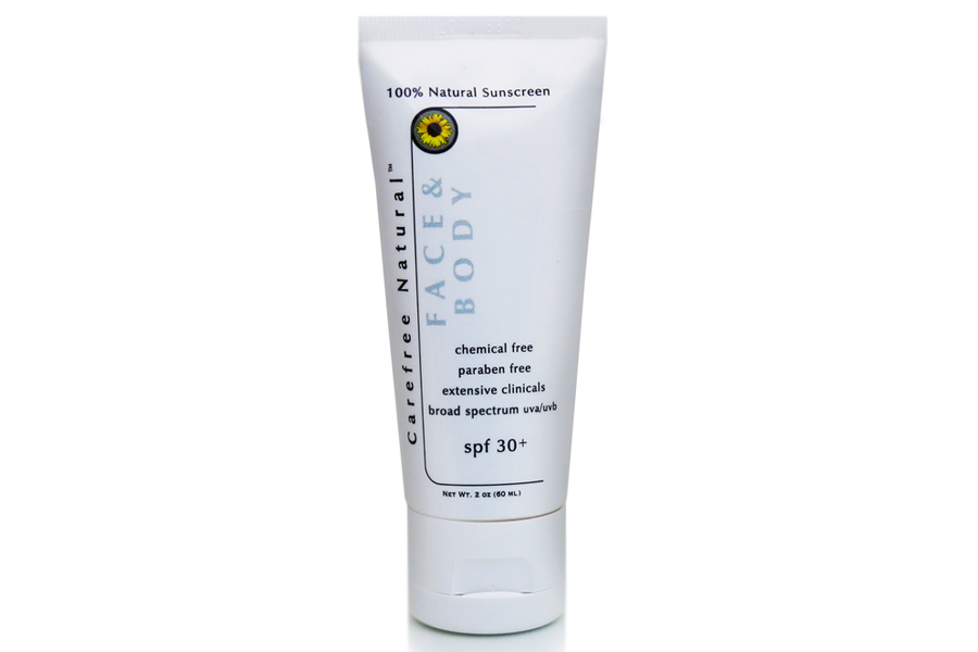 SPF30+ Creme - Untinted Face & Body Sunscreen by Carefree Naturals