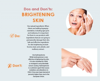 Dos and Don'ts: Brightening Skin