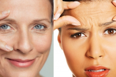 Facial movements cause wrinkles.