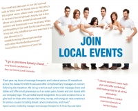 What local events do you participate in to gain exposure?