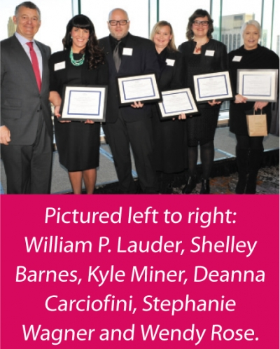 Estee Lauder Companies proudly announce the winners of the third annual Leonard A. Lauder Volunteer of the Year Awards