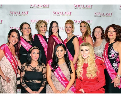 Ten top lashonistas were named Novalash Brand Ambassadors