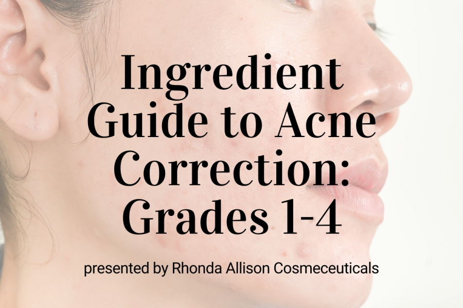 Upcoming Webinar- Ingredient Guide to Acne Correction: Grades 1 through 4