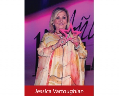 Jessica Cosmetics International, Inc. recently announced that CEO and Founder Jessica Vartoughian was honored by Glamour Magazine Mexico at their 15th Anniversary Gala
