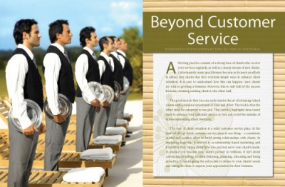 Beyond Customer Service (excerpted from Business Mastery)