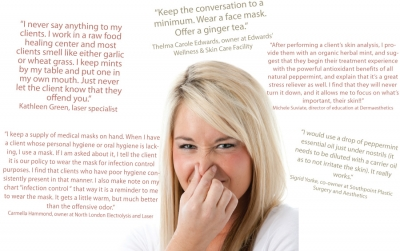 What are your tips for dealing with a client who has bad breath?